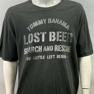 TOMMY BAHAMA Men's Sz XL Graphic T-Shirt Beer